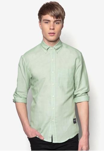 牛津長袖襯衫, 服飾,zalora開箱 素色襯衫