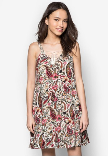 Love 雙zalora 心得肩帶繫帶寬擺洋裝, 服飾, 服飾