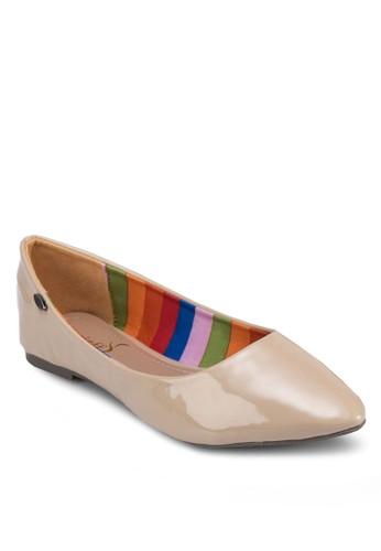 經典漆面尖頭平底鞋, 女鞋, 芭蕾平zalora 心得底鞋