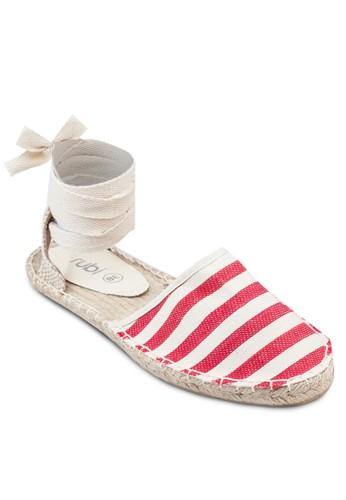 Cooper 層次zalora 台灣踝帶麻編涼鞋, 女鞋, 鞋