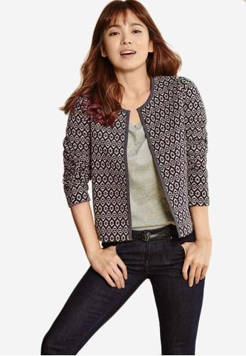 針織提花開襟外套, 服飾, 夾克 & 大zalora 心得衣