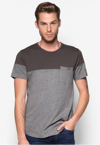 色塊口袋T 恤, zalora 心得服飾, 素色T恤