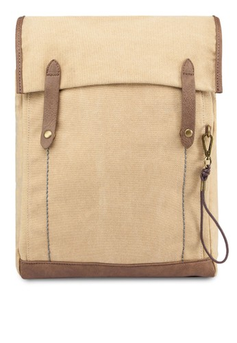 Double-Strapped Canvas Backpack, zalora鞋子評價包, 後揹包