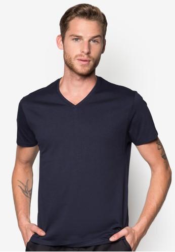 棉zalora 評價質V 領T恤, 服飾, T恤