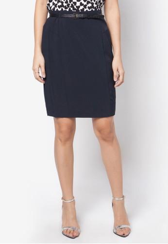 腰帶鉛筆zalora 鞋評價裙, 服飾, 迷你裙