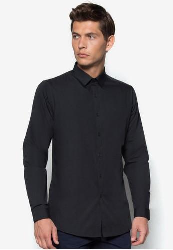 彈性zalora 台灣長袖襯衫, 服飾, 素色襯衫