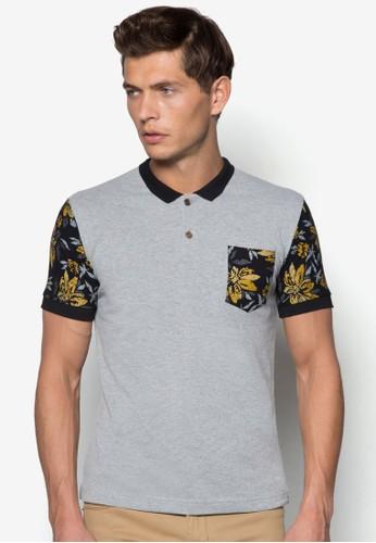 印花袖POLO衫, 服飾, Polozalora退貨衫
