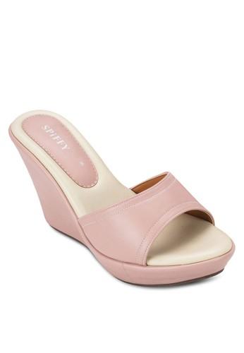 露趾楔形涼鞋,zalora 心得 女鞋, 楔形涼鞋
