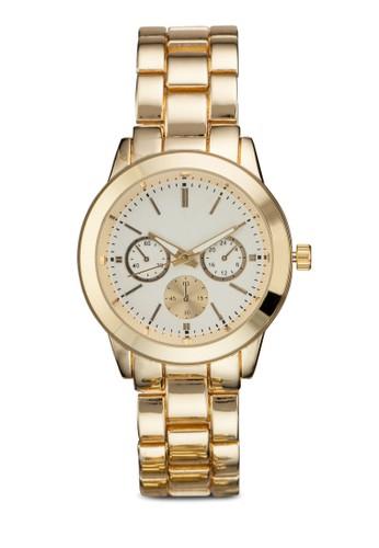 三指針不銹鋼圓形zalora開箱錶, 錶類, 不銹鋼錶帶