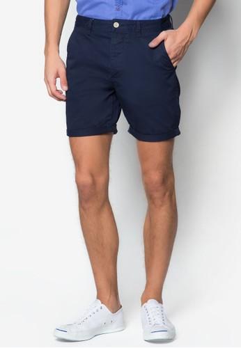 彈性zalora 評價貼身斜布長褲, 服飾, 短褲