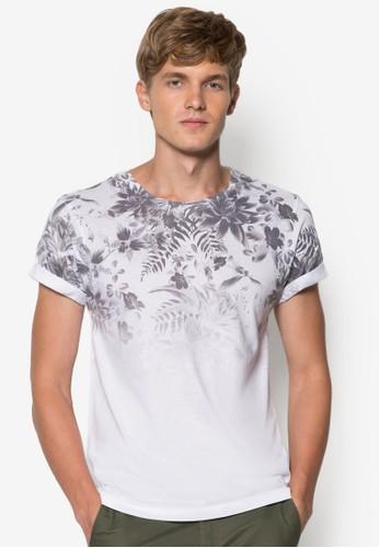 漸層印花設計TEE, 服zalora 評價飾, 印圖T恤