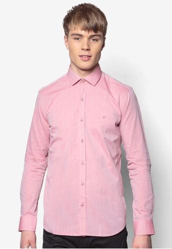 合身長zalora 評價袖襯衫, 服飾, 印花襯衫