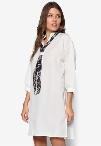 領巾直筒連身裙, 服zalora開箱飾, 服飾