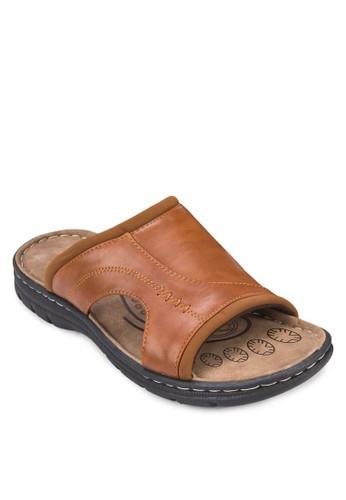 寬帶仿zalora 心得皮涼鞋, 鞋, 鞋