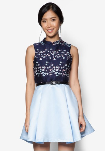 ZALORA Jacquard Pieced Dress