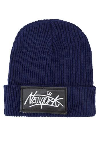 『紐約』反折針織帽, zalora鞋飾品配件, 毛線帽