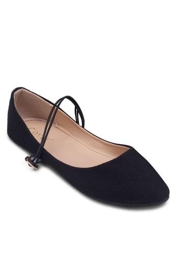彈性踝帶尖頭平底鞋zalora 心得, 女鞋, 鞋