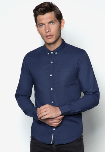 簡約長袖襯衫, 服飾,zalora 心得 襯衫