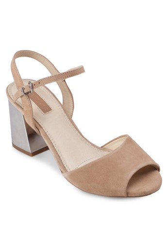Nero2 露趾粗跟涼鞋, 女鞋zalora 評價, 鞋