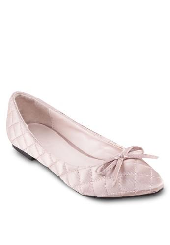蝴蝶結軟襯尖頭平底zalora 心得鞋, 女鞋, 芭蕾平底鞋