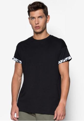 獵豹捲袖T 恤,zalora鞋 服飾, 服飾