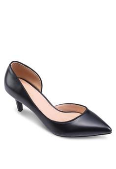 側鏤空尖頭高跟鞋