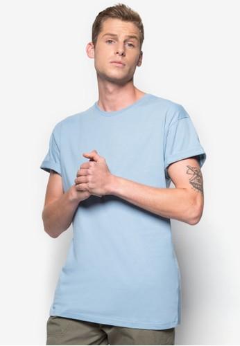 捲袖素色TEE, 服zalora 評價飾, T恤