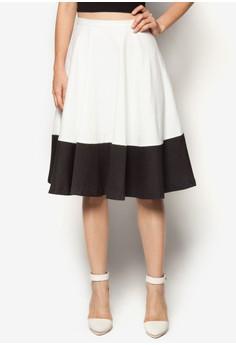 Colourblock Midi Skirt