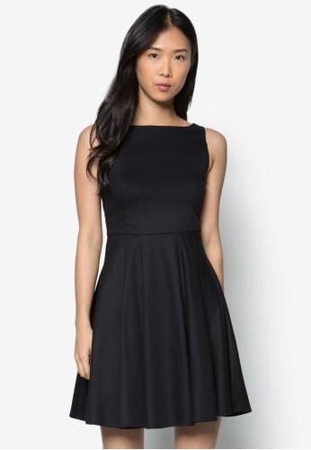 簡約寬擺連身裙, 服zalora 心得飾, 洋裝