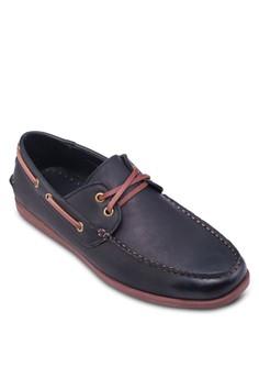 仿皮繫帶船型鞋