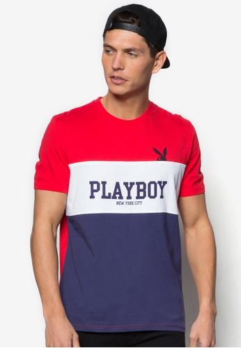 Plazalora鞋yboy 撞色條紋TEE, 服飾, 服飾