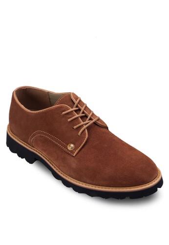 配色繫帶麂皮休閒鞋, 鞋,zalora 評價 男鞋