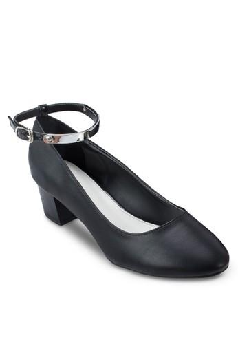 繞踝粗跟淑zalora 心得女鞋, 女鞋, 鞋