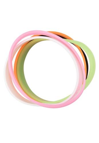 FELIzalora 心得NIE 五入彈性橡膠髮圈, 飾品配件, 手環