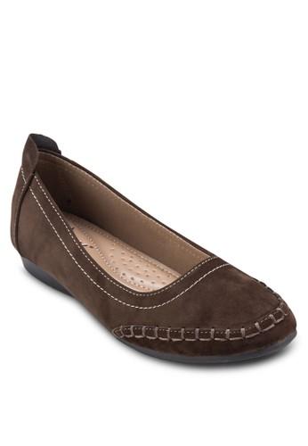仿麂皮娃娃鞋, zalora鞋子評價女鞋, 芭蕾平底鞋
