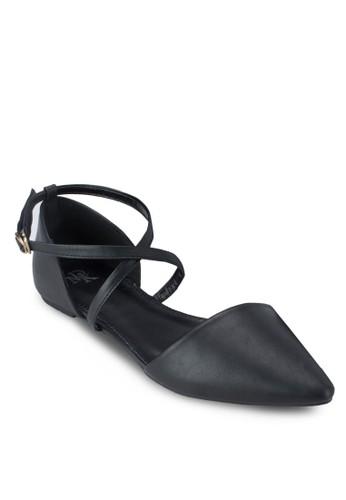 撞色尖頭平底涼鞋,zalora 評價 女鞋, 鞋