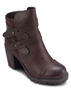 Luiza 雙踝帶粗跟短靴