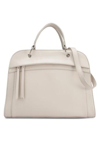 立體梯形仿zalora退貨皮手提包, 包, 飾品配件