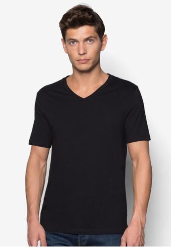 修身Vzalora退貨 領棉質T 恤, 服飾, 服飾