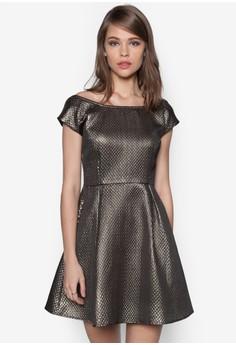 Festive Luxe Fit & Flare Dress