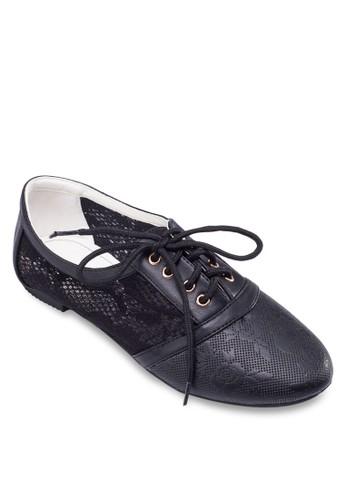 蕾絲繫帶休閒鞋, 女zalora開箱鞋, 鞋