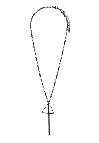 三角鐵吊飾項鍊, 飾品配件, zalora鞋子評價項鍊