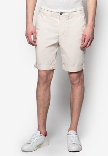 基本款zalora退貨斜布短褲, 服飾, 短褲