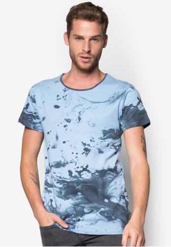 Nigel 飛濺T 恤, 服飾,zalora 台灣 印圖T恤