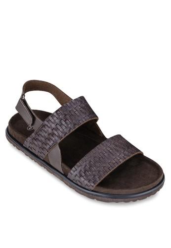 編織zalora開箱鞋帶繞踝涼鞋, 鞋, 拖鞋