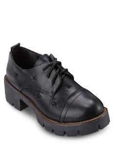 厚底粗跟德比鞋