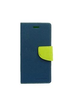 Mercury Goospery Fancy Diary for LG G Optimus Pro Case - Navy/Lime