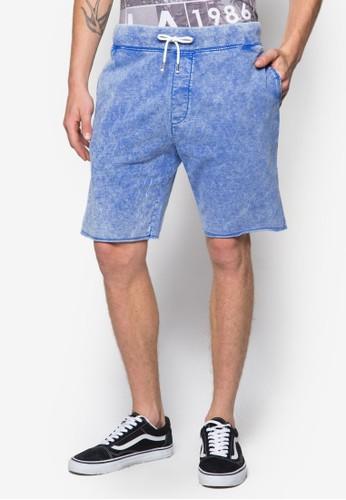 水洗抽繩zalora鞋子評價短褲, 服飾, 短褲