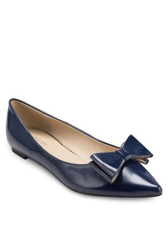 Bonnie 蝴蝶結尖頭平底鞋, 女鞋, zalora 評價芭蕾平底鞋