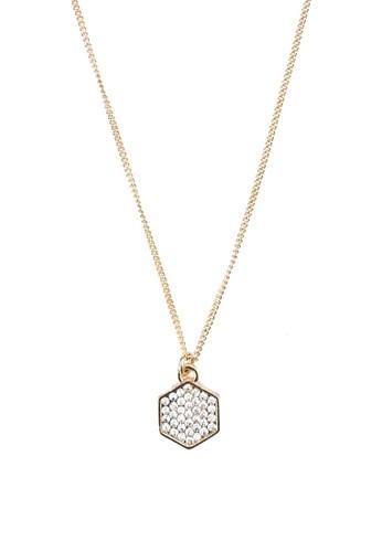 六角形鑲鑽項鍊,zalora開箱 飾品配件, 項鍊